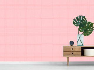 Watercolor Pink Plaid. Kids Elegant Picnic