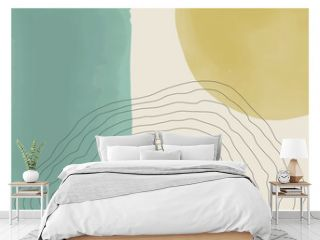 Trendy abstract creative minimal artistic hand painted composition