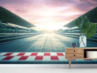 F1 evening circuit motion blur road