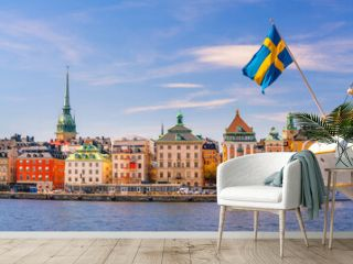 Stockholm old town city skyline, cityscape of Sweden