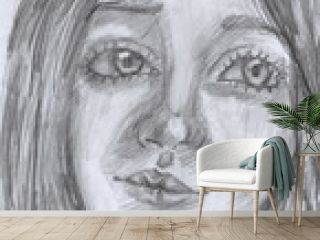 hand painted sad girl