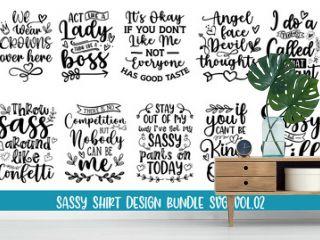 Sassy Shirt Design Bundle SVG VOL.02 Vector quotes