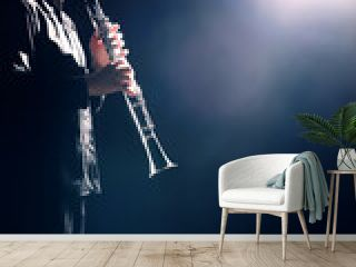 Clarinet player classical musician playing concert