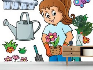 Girl gardener theme set 1