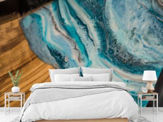 resin geode abstract art and functional art