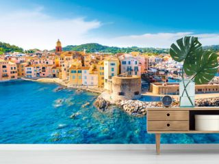 View of the city of Saint-Tropez, Provence, Cote d'Azur, a popular travel destination in Europe