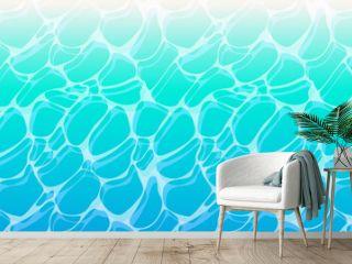 爽やかな夏の海面の背景 パターン 壁紙