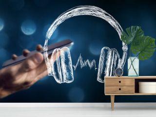 headphones listen to music or audiobook