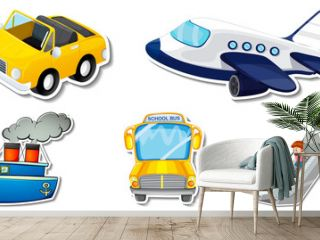 Random stickers with transportable vehicle objects