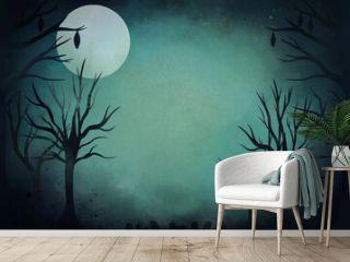 watercolor halloween background design vector illustration
