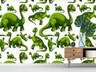 Seamless pattern with fantasy dinosaurs cartoon