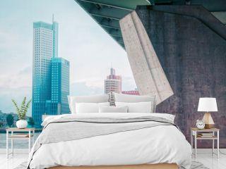 Brücke und moderne Architektur an der Maas in Rotterdam