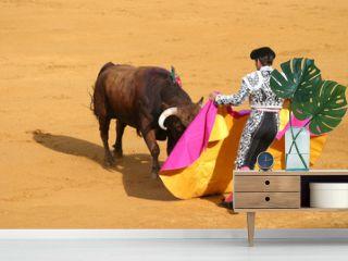 attacking bull.