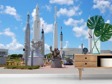 rockets at the kennedy space center