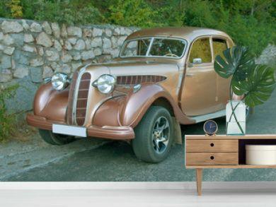 antique vintage car on road