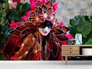 personnage de carnaval masqué