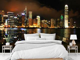 Hong Kong skyline at night (1)