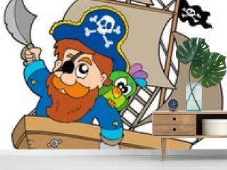 Pirate sailing on ship