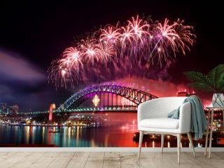 Sydney Harbour Bridge and fireworks