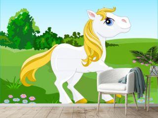 White Horse. Vector illustration