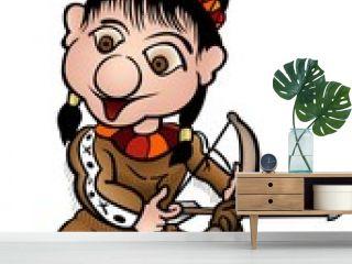 Indian 02 - colored cartoon illustration