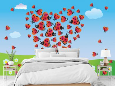 Heart of summer from ladybirds