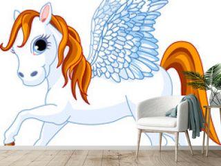 Cute winged horse Pegasus of Greek mythology
