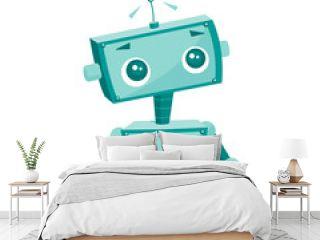 Cute cartoon robot, vector illustration