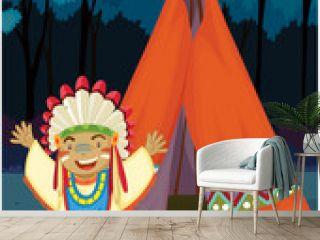A Boy Near Tent