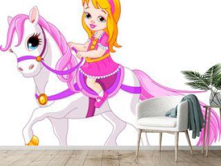 Little princess on horse