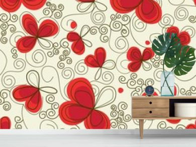 Romantic floral seamless background