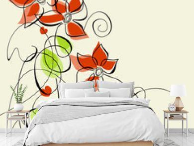 Floral romantic greeting card