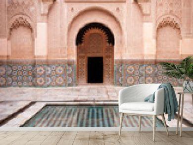 Ben Youssef Medersa Courtyard in Marrakesh Morocco