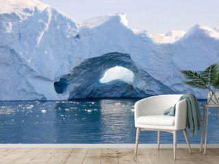 Iceberg in the Ilulissat fjord, Greenland.