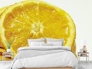 Nahaufnahme einer Orangenscheibe