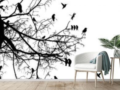 tree and bird
