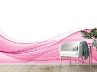 Abstract pink wave