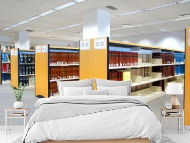 Book shelfs in university library