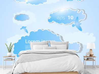 weather background with clouds