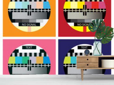 tv color test in pop art style - illustration