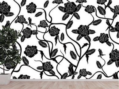 rose seamless pattern background