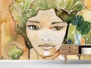 abstrakcyjny portret pieknej  kobiety