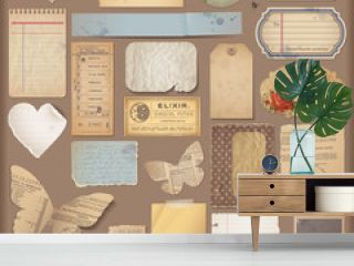 digital scrapbooking kit: aged paper objects (2)