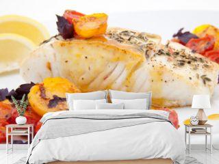 Pan fried halibut