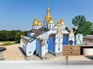 view of Saint Michael Golden Monastery in Kiev, Ukraine