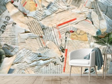 Abstract newspaper dirty damaged background