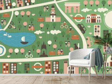 cartoon map of hyde park london