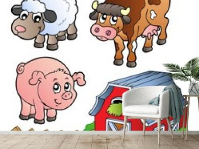 Collection of various farm animals