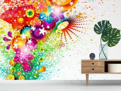Eps10 Floral design background.