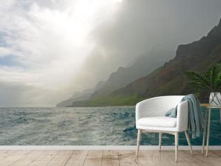 Morning Mist on the Na Pali Coast